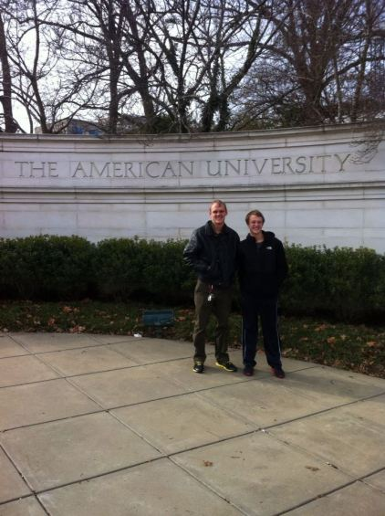 My brother and I at American University. I spent half a semester there.